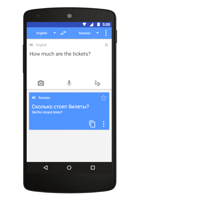 Google Translate - A Personal Interpreter on Your Phone or